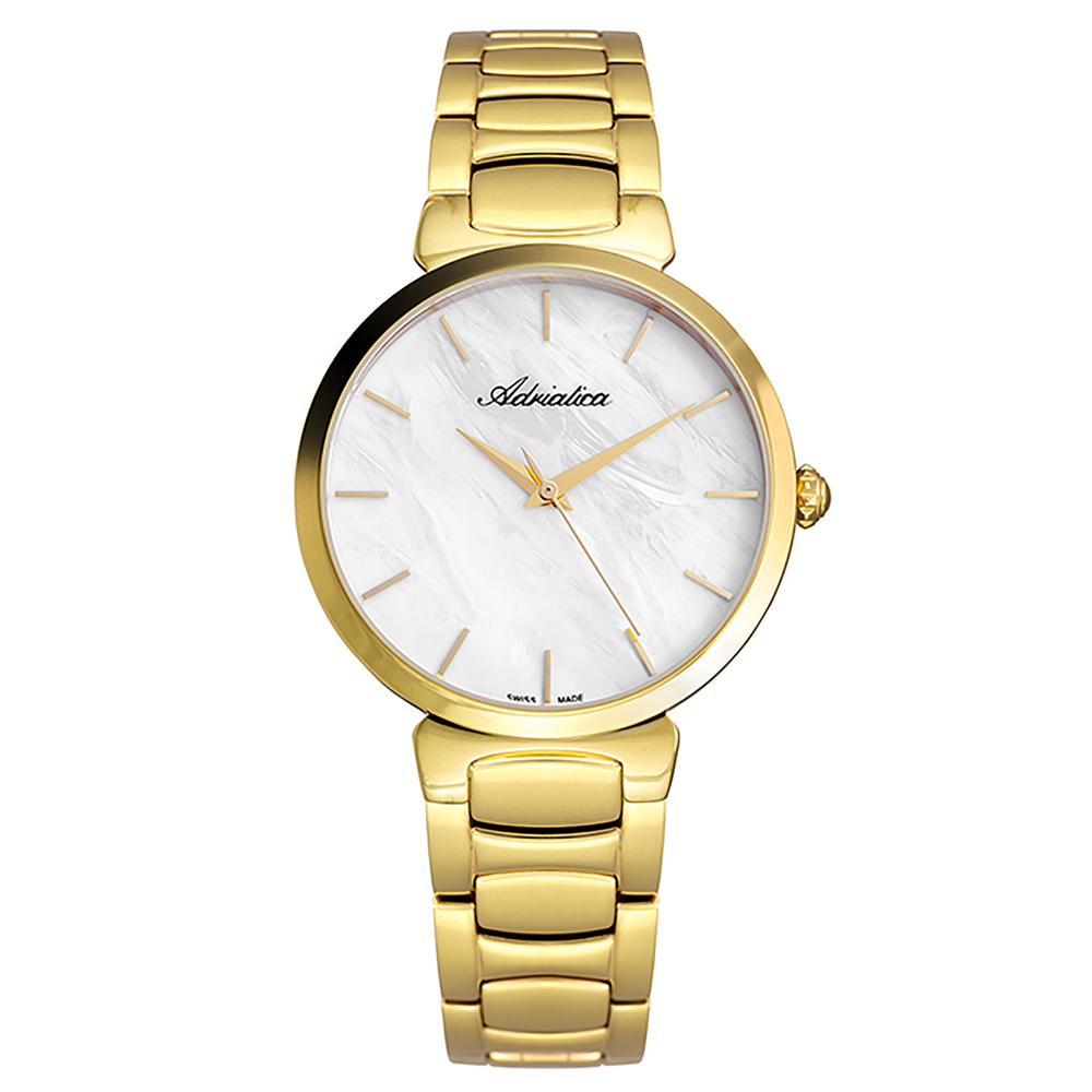 Women's Watch A3706.111fq On A Steel Bracelet With PVD Coated Mineral Glass SUNLIGHT