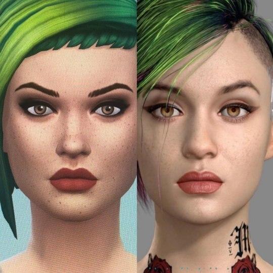 玩家在《模拟人生4》里捏出《2077》女角 样貌神还原插图