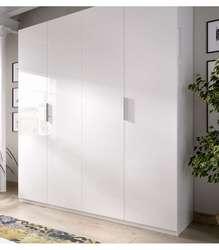 Шкаф складные двери белый 180 см в ширину