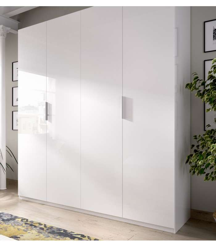 Wardrobe Closet Folding Doors White 180 Cm Wide
