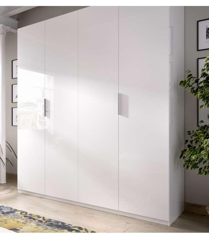 Wardrobe font b closet b font folding doors White 180 cm wide