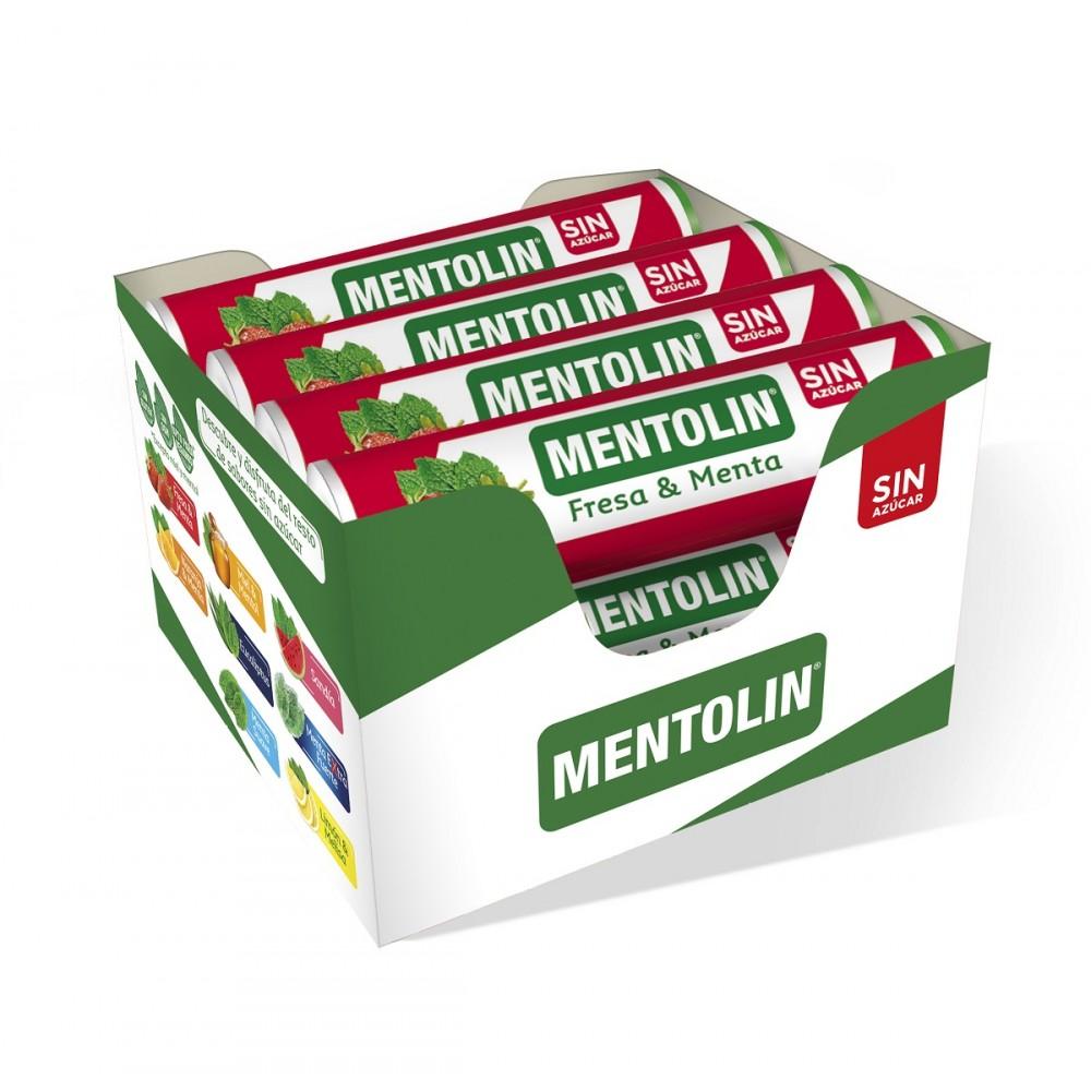 Pack 12 you. · Mentholin sugar-free mintholin strawberry