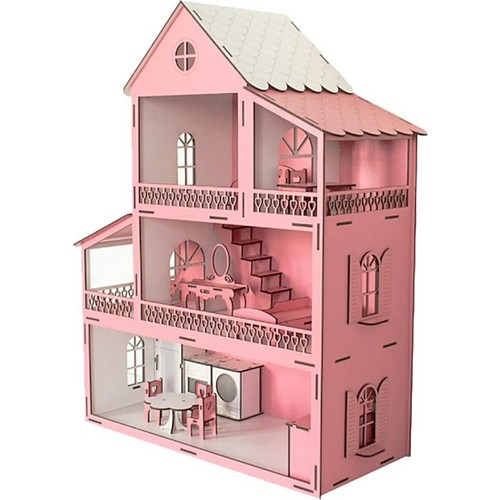 Wooden Pink Game House For Adults Stress Relief Training Bulamca Game Brain Teaser Hot Sale Free Shipping