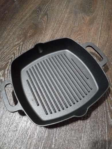GRILL CAST IRON Skillet Non stick frying pan grooved grill cast iron induction cooker oven 26x26x4.5sm 808 004-in Pans from Home & Garden on AliExpress