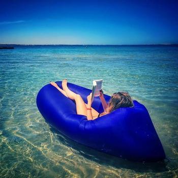 Topsale, Hızlı şişme Plaj Sandalyesi, Açık Kamp, Kanepe Uyku Tulumu Hamak, Hava Yatağı, şezlong Plaj Için