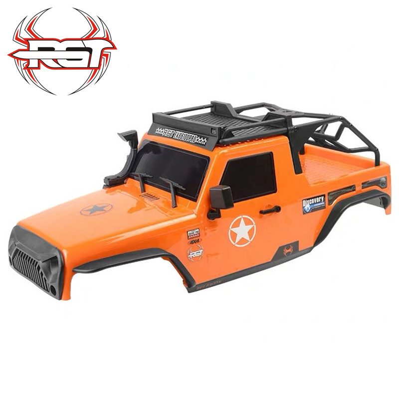 RGT HSP PC bodyshell with roof rack for 1:10 RC crawler axial SCX10 Traxxas Redcat 313mm wheelbase RC car parts
