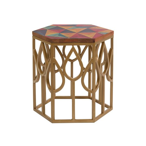 Small Side Table (45 x 45 x 45 cm) Mango wood title=