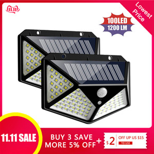 1/2/4pcs Solar Light 100 LEDs