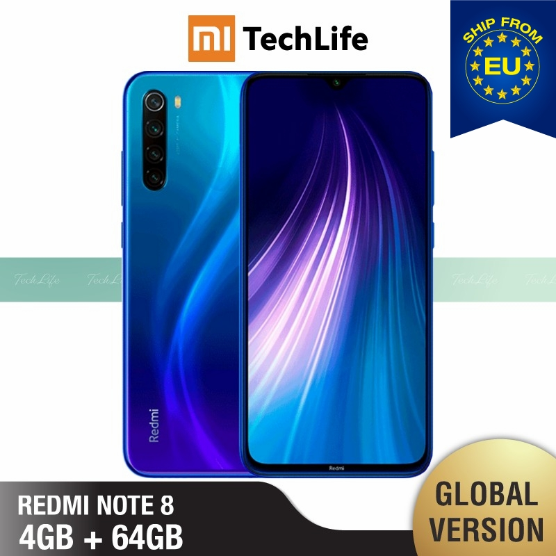 <font><b>Global</b></font> Version <font><b>Xiaomi</b></font> <font><b>Redmi</b></font> <font><b>Note</b></font> <font><b>8</b></font> <font><b>64GB</b></font> ROM <font><b>4GB</b></font> RAM (Brand New / Sealed) note864 Smartphone Mobile image