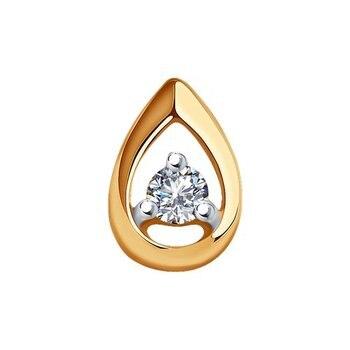 Sokolov gold with diamond pendant, fashion jewelry, 585, women's male, pendants for neck women