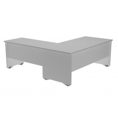 WING FOR OFFICE TABLE SERIALS WORK 100x60 ALUMINUM/GRAY (PRICE JUST FOR THE WING, THE MAIN TABLE IS PURCHASED SEPARATELY)