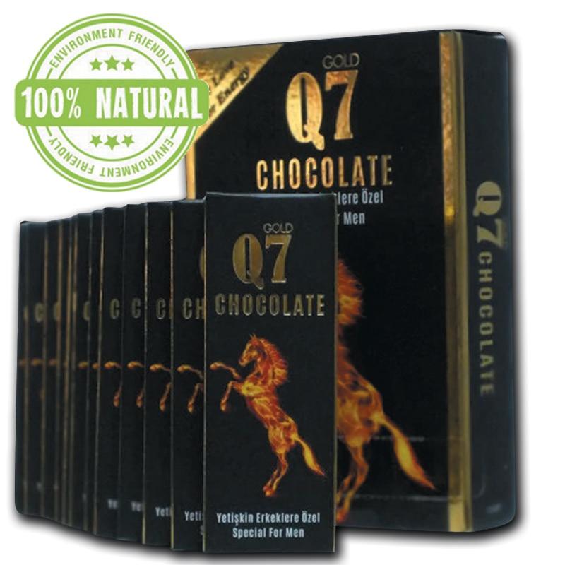 Q7 шоколад афродизиак 12 кусок для мужчины Q7 шоколад смесь травы натуральный афродизиак улучшает сексуальный желание горячий натуральный