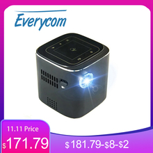 Everycome D019 Mini Projector Ondersteuning Full Hd 1920X1080 P Dlp Draagbare Android 7.1.2 Os Wifi Bluetooth Led Batterij thuis Beamer