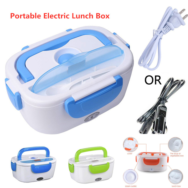 Portable Electric Lunch Box12V 110V 220V Electric Lunchbox Heated Container For Food Warmer Heating Keeping Dinnerware Sets 1