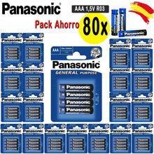 DEPALMERA   PANASONIC Original Pilas AAA 80x1,5 V LR3 General PACK 20 Blister 4 unidades since España Envío Gratis