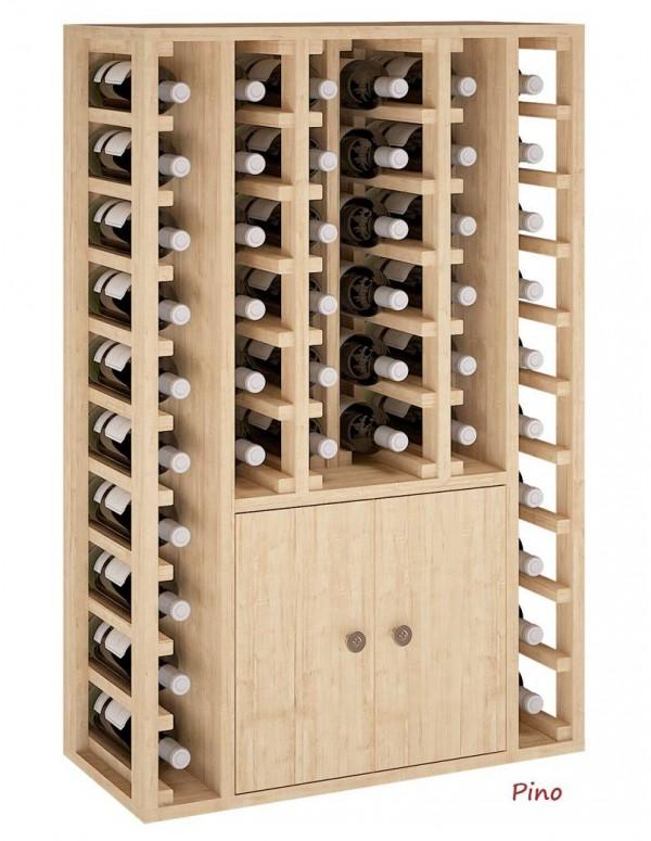 Botellero Decorativo Con Puertas 44 Botellas