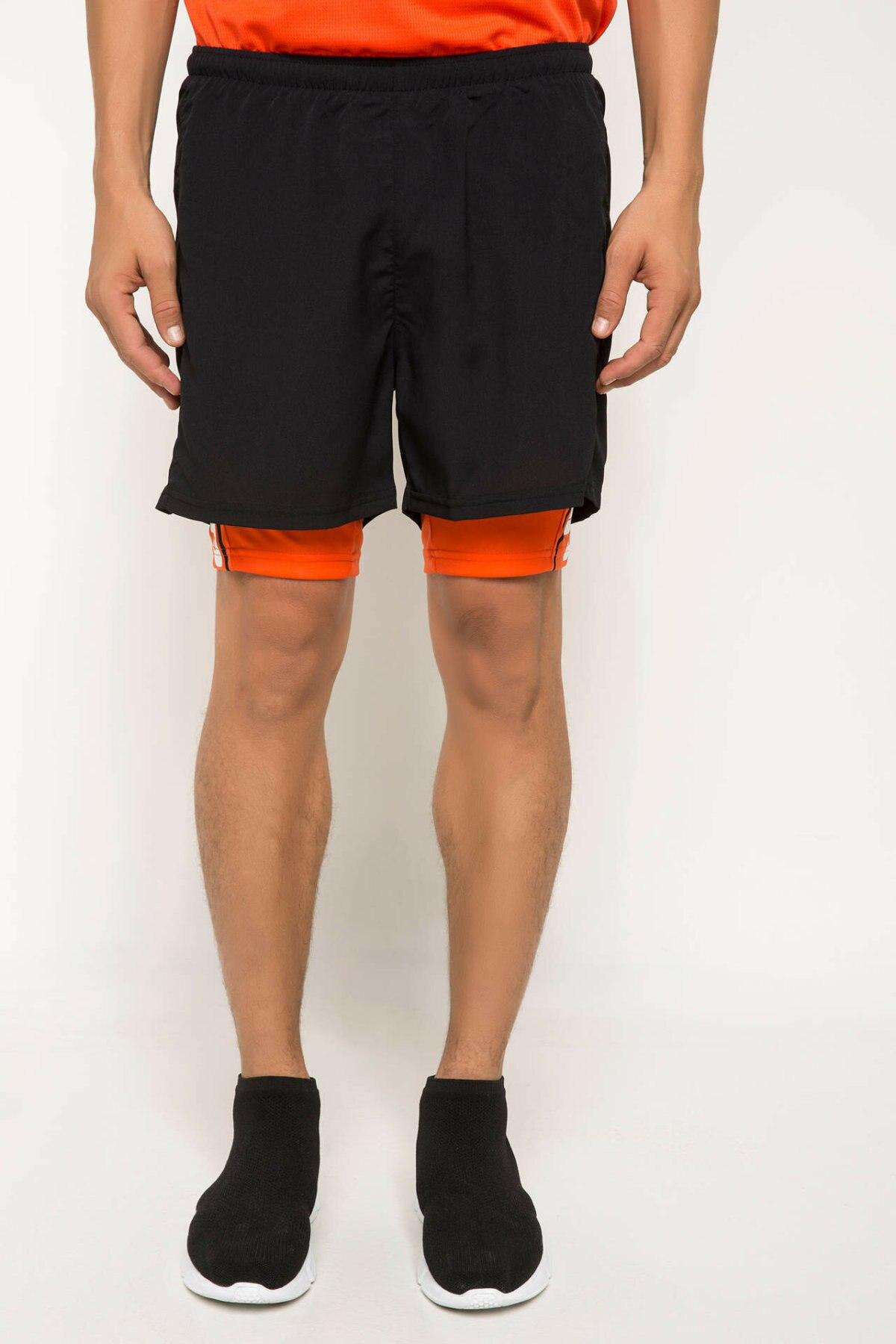 DeFacto Summer Man Cotton Bottoms Fashion Male Black Men's Casual Loose Sweatpants New - I3679AZ18SP
