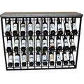 Железная стойка для бутылок (120X34x94 см)