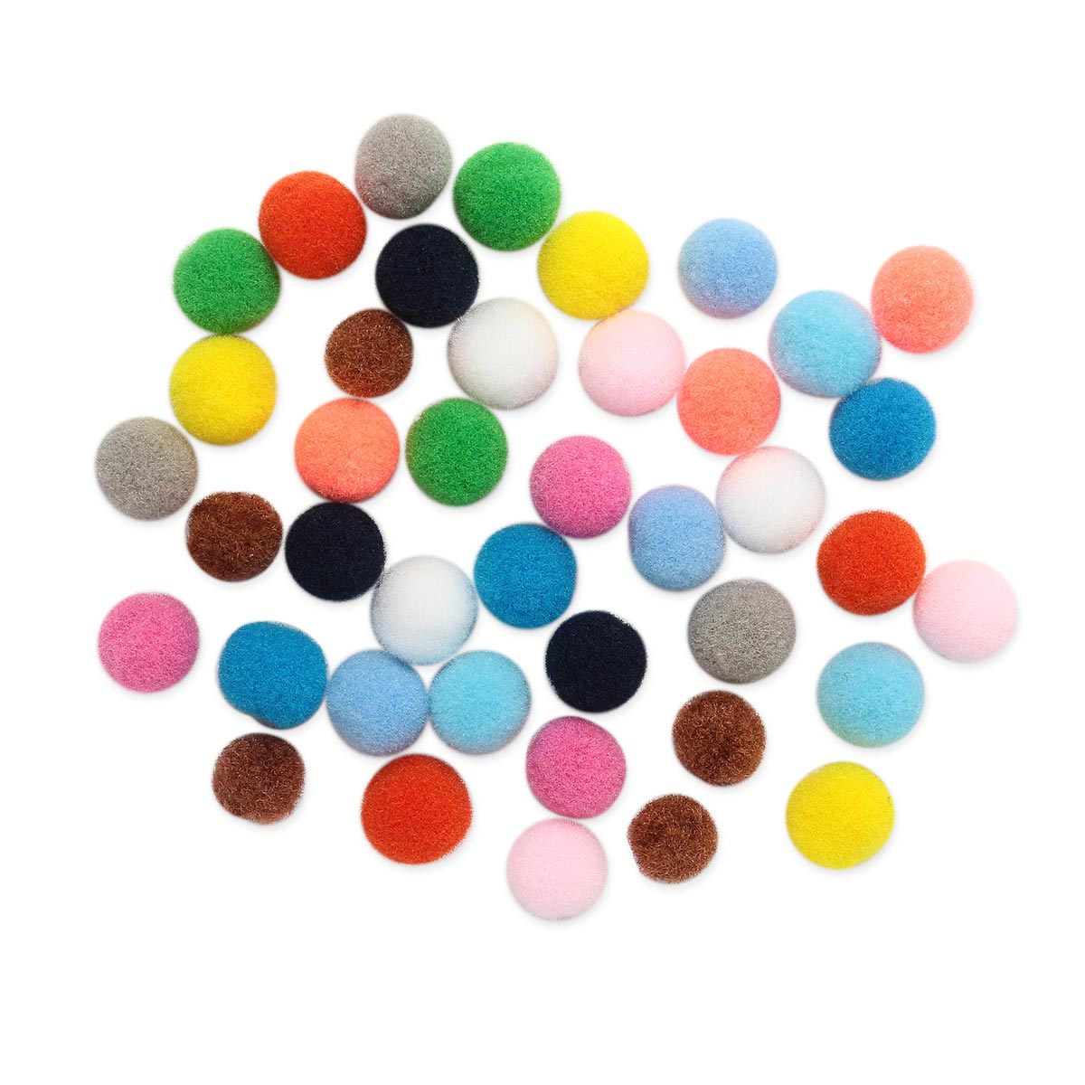 Pompoms Mix 10mm, 41 PCs.