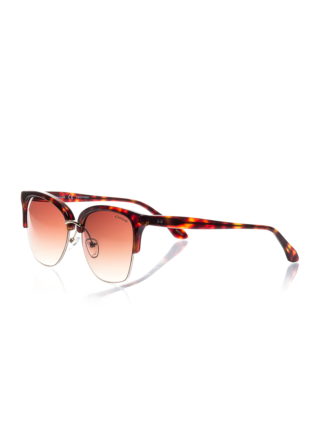 Women's sunglasses os 2117 02 clubmaster Brown organic oval aval 56-15-142 osse