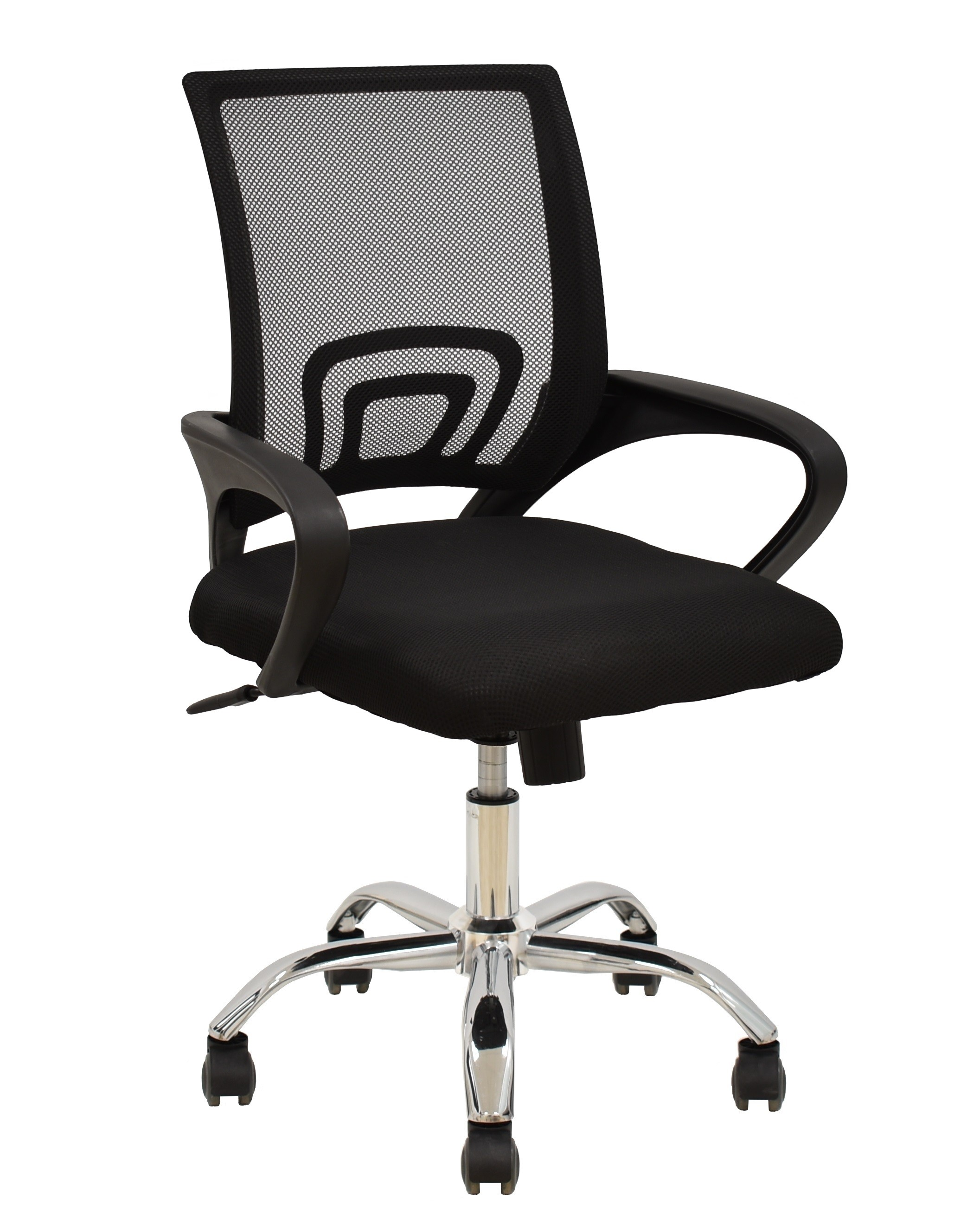 Office Armchair FISS NEW, Black, Gas, Rocker, Mesh And Black Fabric