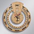 Персонализированные дорогие мамы бесконечный календарь Майя деревянные настенные часы-5