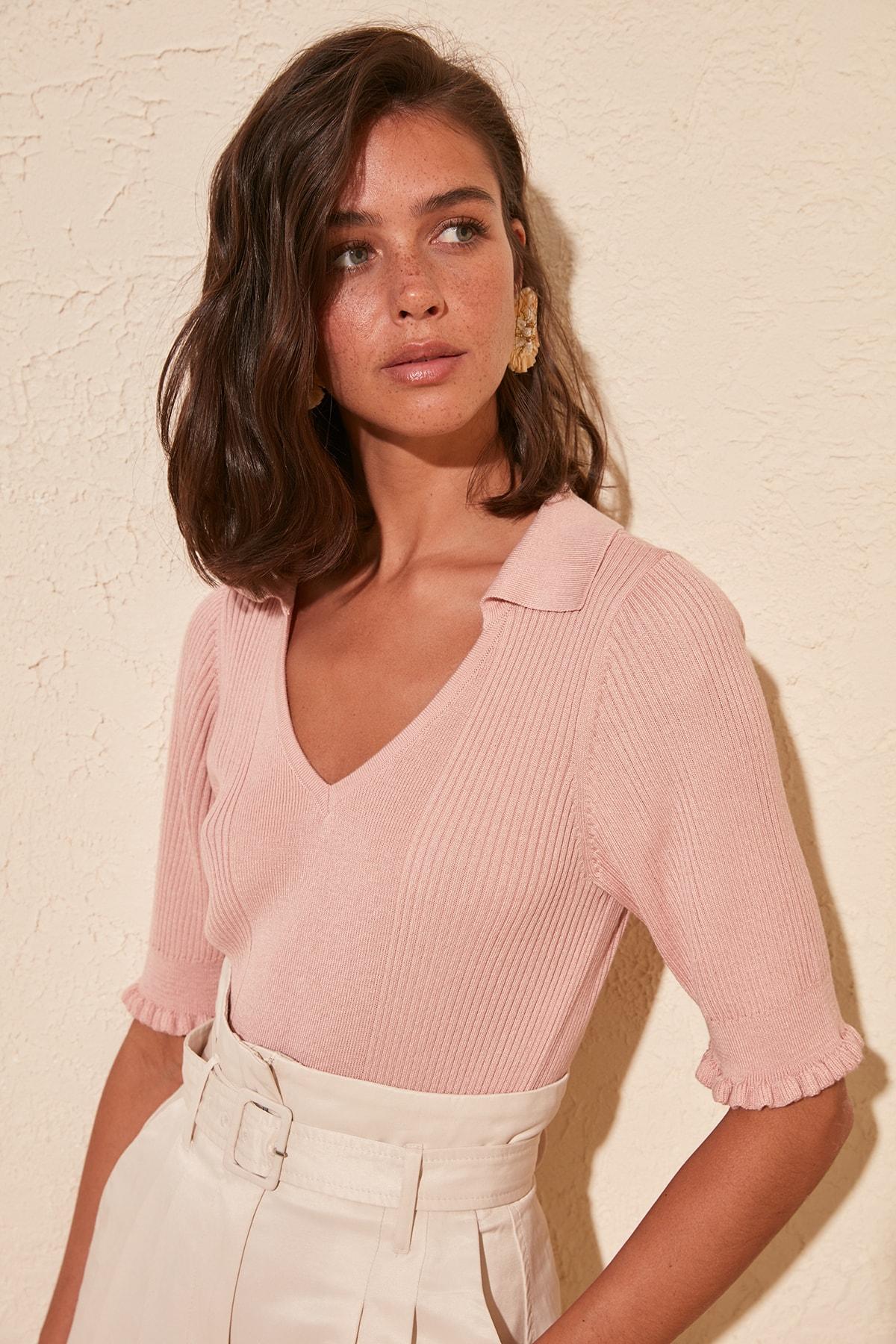Trendyol Short Handle Knitwear Sweater TWOSS20KZ0036