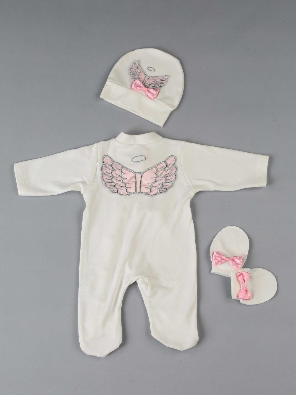 083-584-021 Pembe Melek Kanatlı Kız Bebek 3 lü Tulum Seti (4)