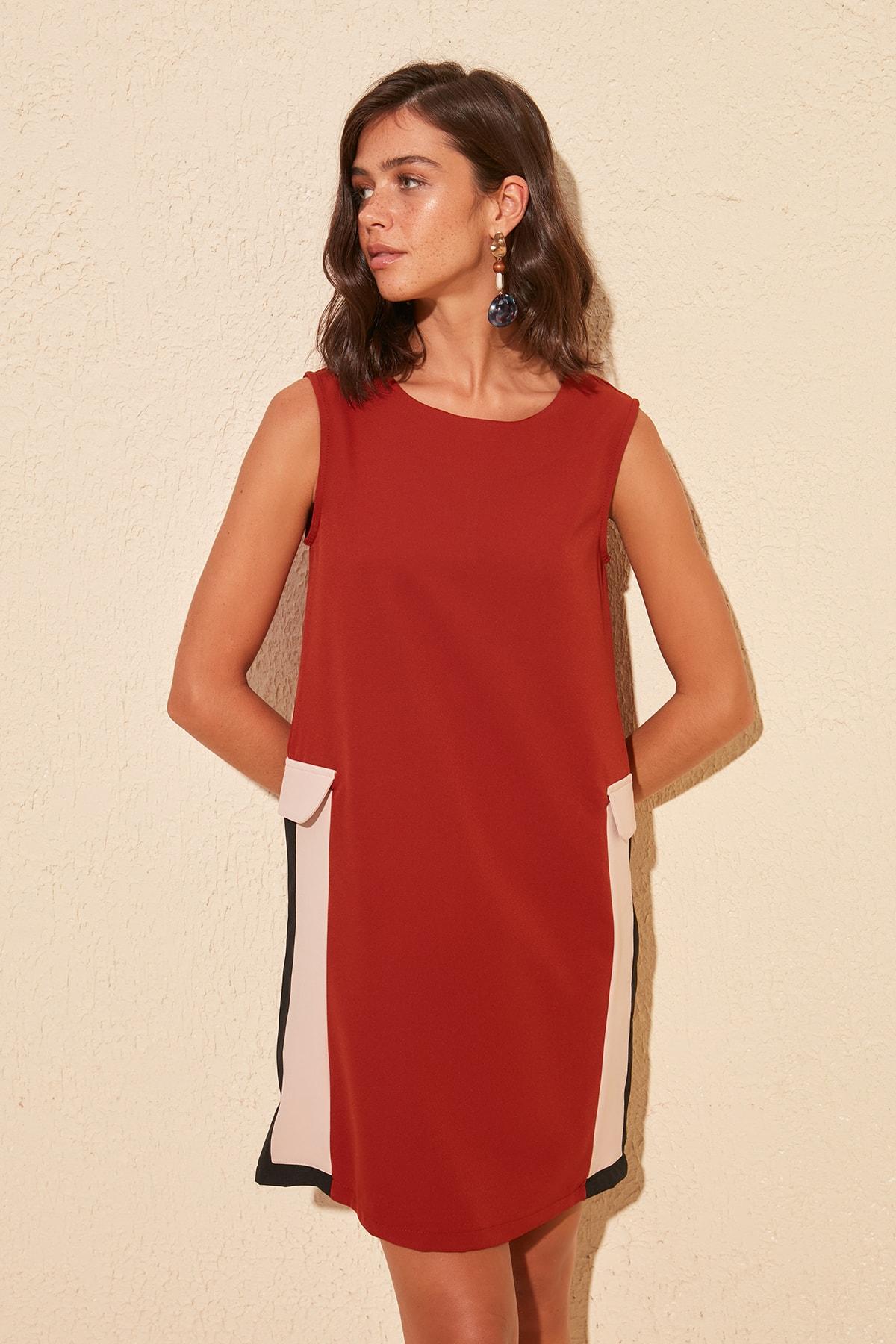 Trendyol With Color Block Dress TWOSS20EL0435