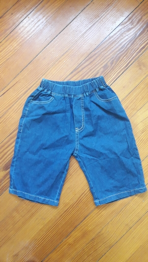 Baby Boy Denim Shorts Clothes 2021 Summer New Kids Shorts Casual Thin Style Elastic Mid Waist Pure Color Outwear For Teenagers photo review