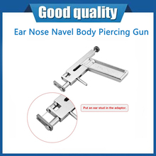 Professional Safe Steel Ear Nose Navel Body Piercing Gun 72pcs Studs Tool Kit Set with Durable Box ACEHE