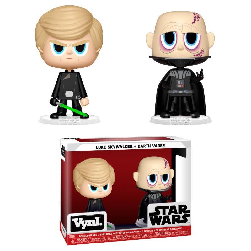 Figuras Vynl Star Wars Darth Vader & Luke Skywalker Venta al por mayor tallado antiguo mano de madera manivela Star Wars Juego del trono caja de música regalo de Navidad Fiesta ataúd anonimato Decoración