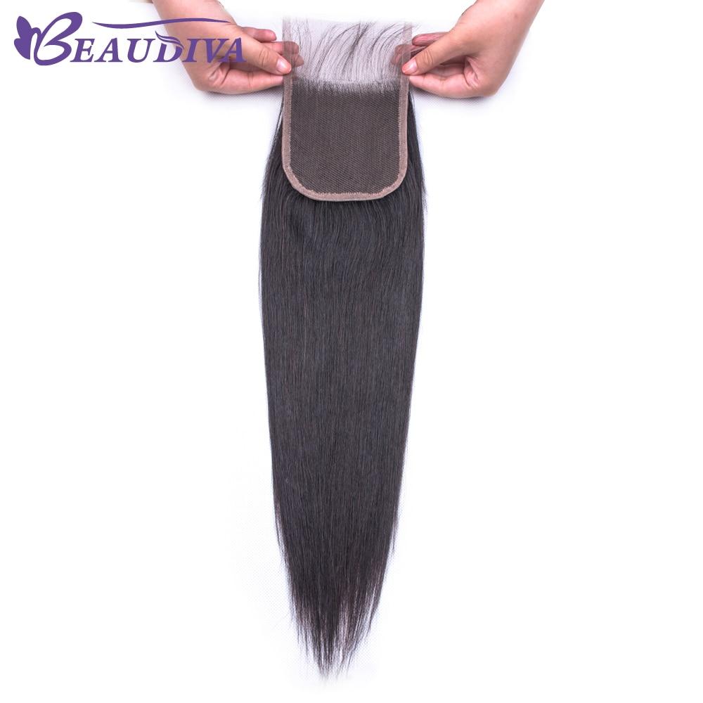 Ub07fff7e143b4c9e8c56ce6553d20baeM Beaudiva Hair Extension 100% Human Hair Bundles With Closure Brazilian Hair Weave 3 Bundles Straight Bundles With Lace Closure