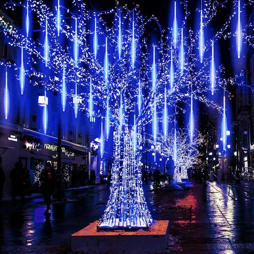 Falling Rain Lights 30cm 8 Tube, Meteor Shower Rain Lights, Icicle Snow String Lights, Christmas Lights for Holiday Party Weddin