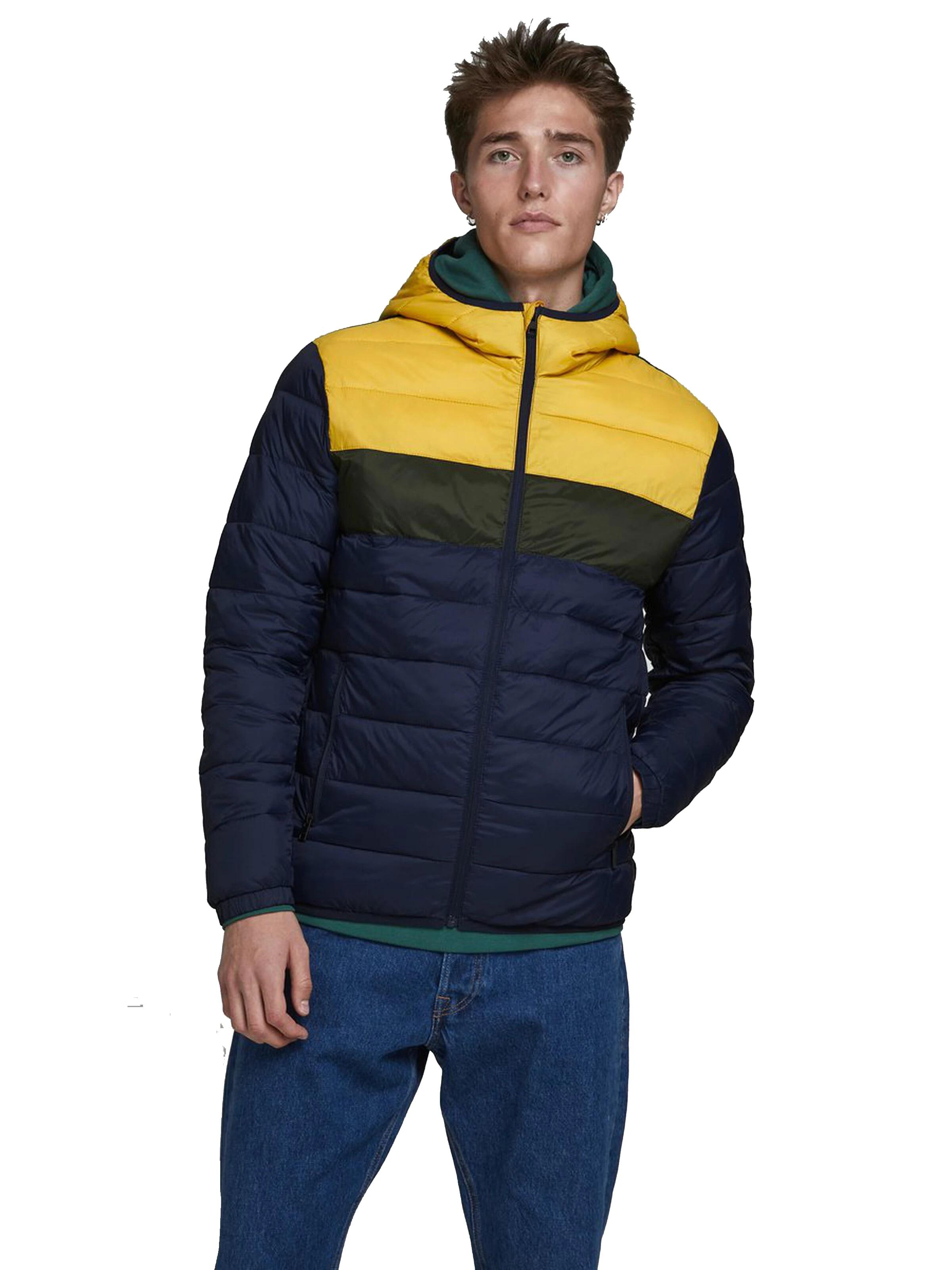 Jack Jones Hombre Jacket Cazadora Acolchada Con Capucha Jjemagic Puffer Tricolor Amarillo Azul Moda Casual Chaquetas Aliexpress