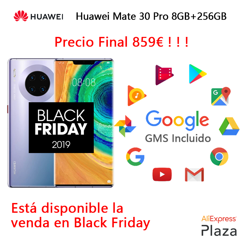 Huawei Mate 30 Pro Smartphone(RAM 8GB + ROM 256GB, Phone Mobile, Free, New, Google Included, NFC, Android) [European Version]