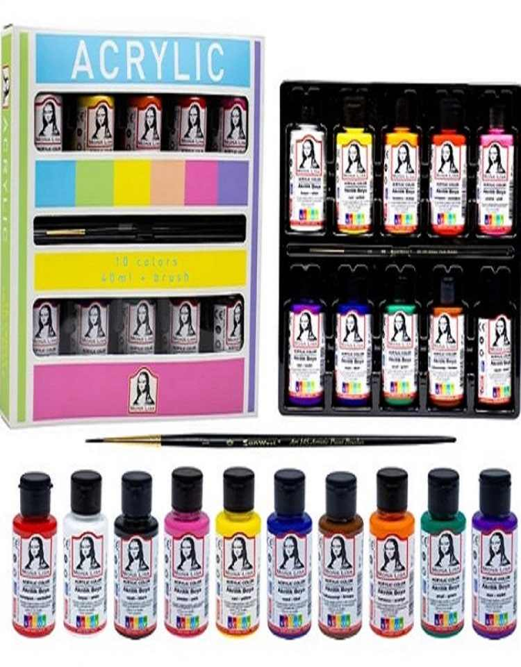 6 10 18 renkler akrilik boya seti sanat malzemeleri airbrush boya profesyonel el urun suya dayanikli diy ahsap kumas tuval acrylic paints aliexpress