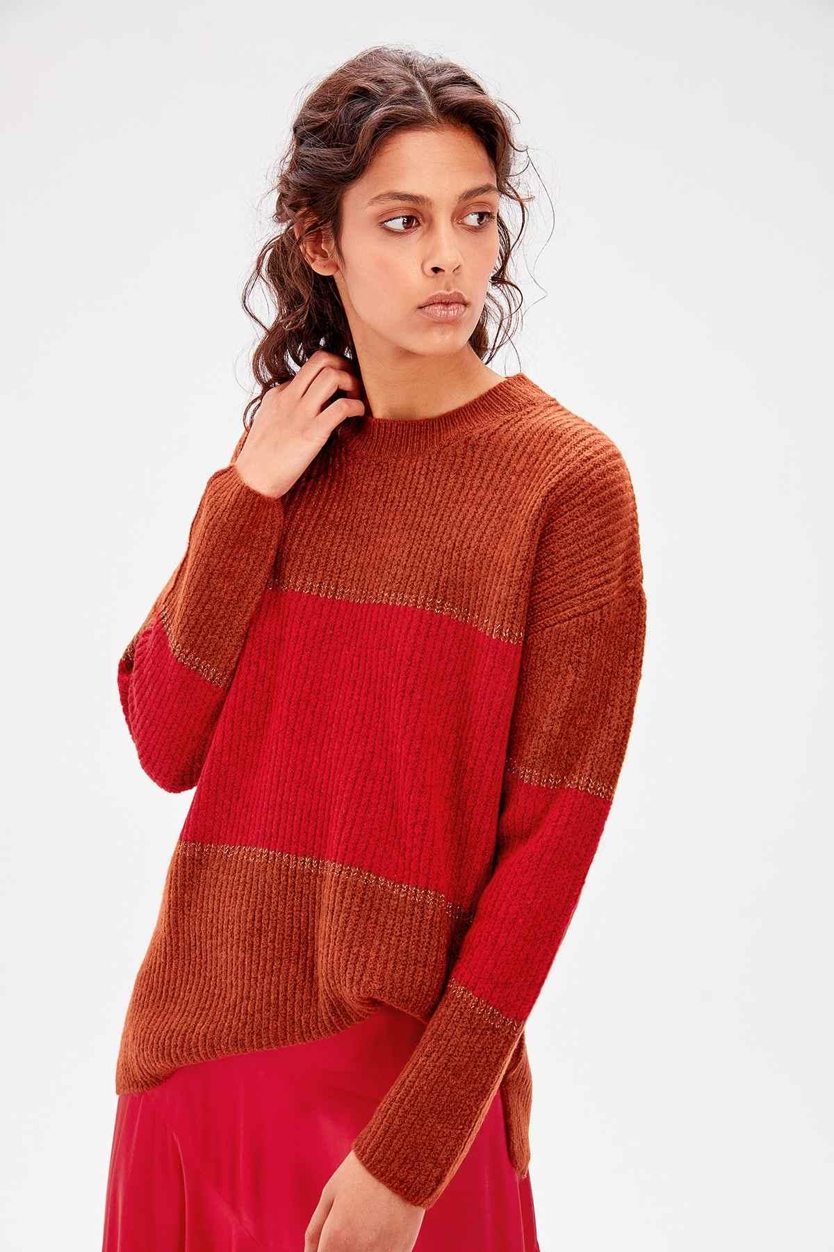 Trendyol azulejos vintage suéter TWOAW20KZ0195