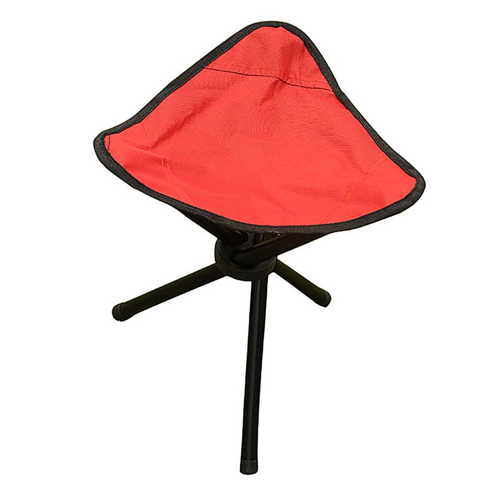3 Color Outdoor Fishing Chair Portable Tripod Stool Folding Chair Camping Walking Picnic Garden Foldable Three Feet Beach Chair