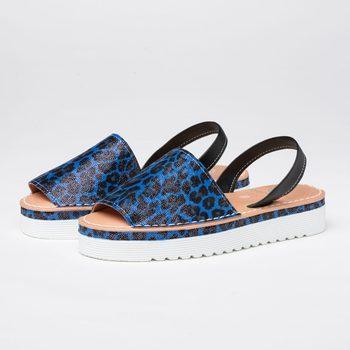 Menorquina vegan women Napoli blue   Women sandals women Size 36-41   Sandals woman platform women sandal summer