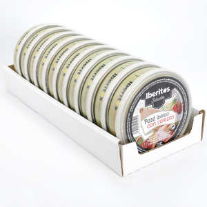 IBERITOS-tray 10 Pate Iberico with Cherries in cans 140g-tray 10x140g PATE with Cherry
