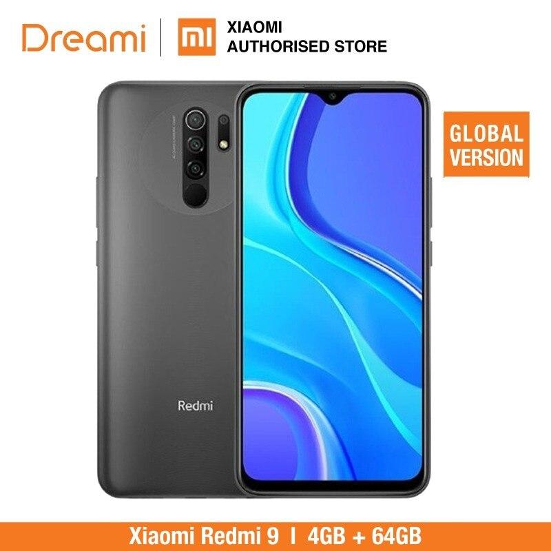 Versão global xiaomi redmi 9 64gb rom 4gb ram (novo/selado) redmi9, redmi9 64, smartphone, celular, telefone