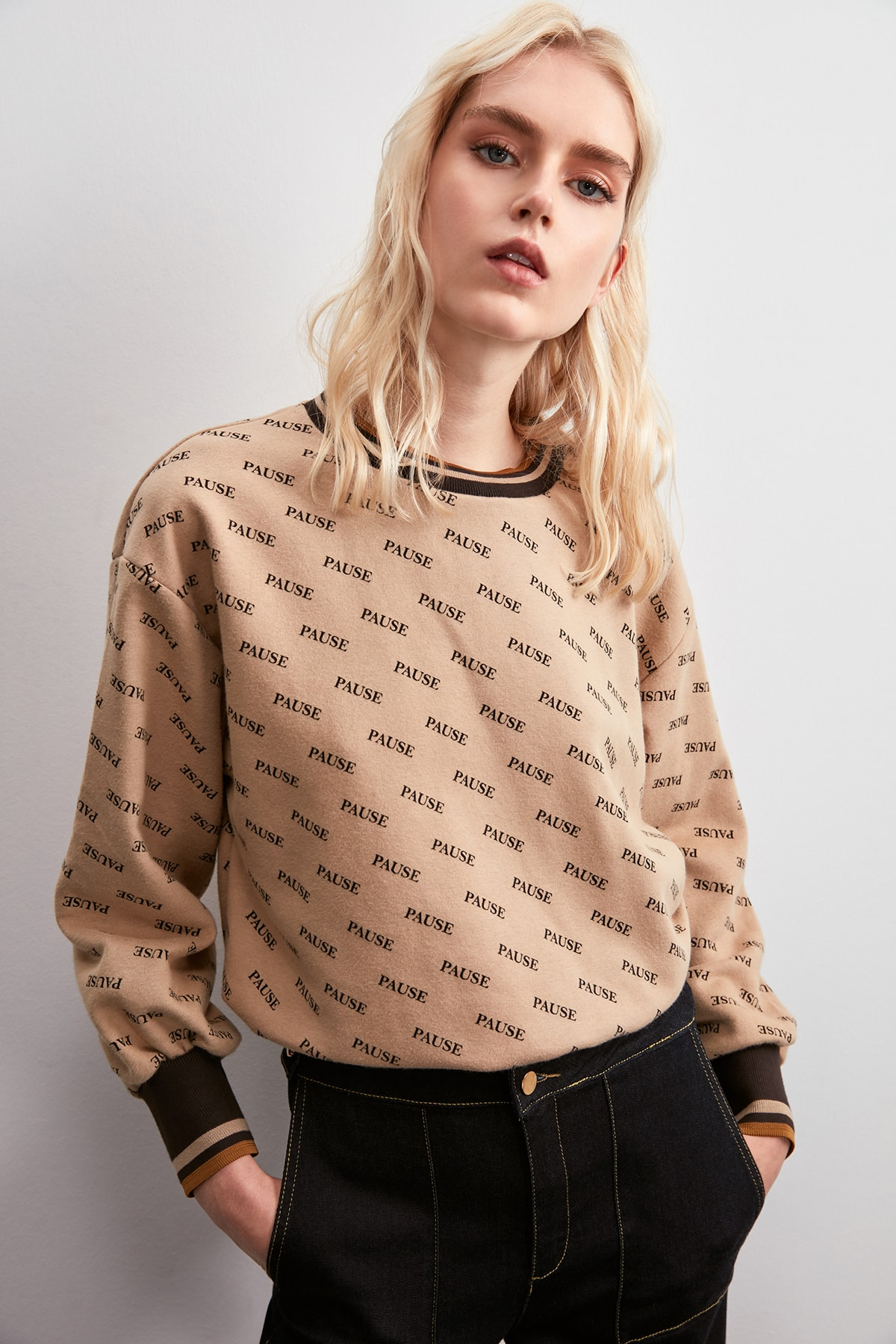 Trendyol Printed Knitted Sweatshirt TWOAW20SW0768