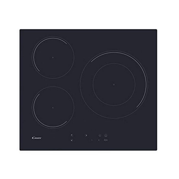 Induction Hot Plate Candy CID633C 60 Cm 7100W (3 Zonas De Cocción) Black
