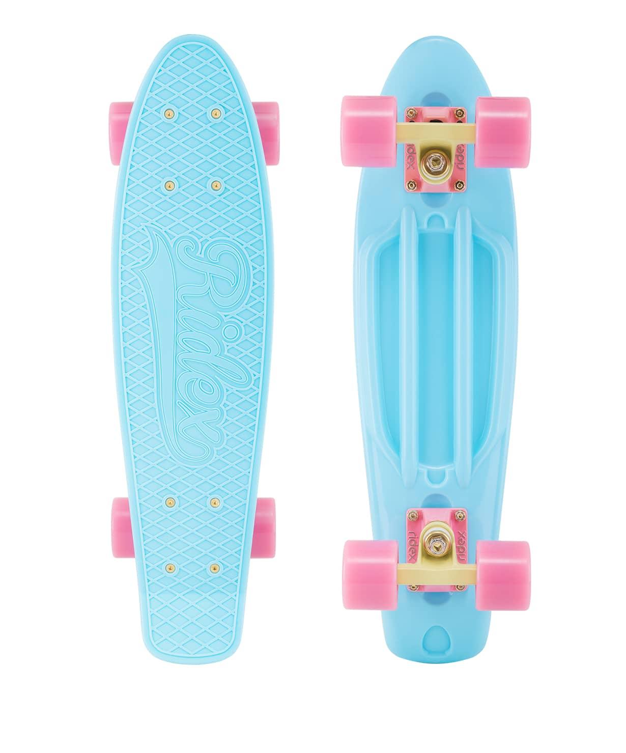 Skateboard Cruiser Plastic Ridex 22 ''x 6'', Abec-7, Azure