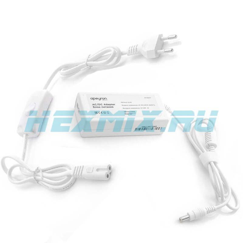 Power Supply 24 V 3A 72 W. Apeyron