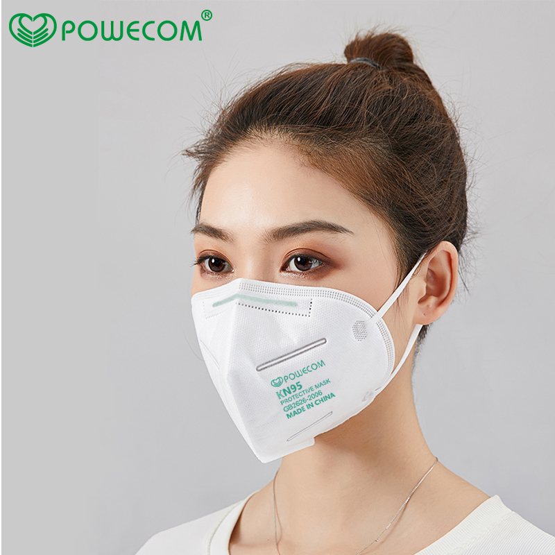 KN95 Powecom KN95 Mask Respirator 10pcs Face Mask Safety PM2.5 Protective 95% Filtration Mouth Muffle Mask Dust Mask-2