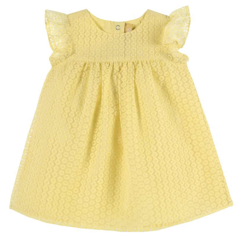 Dress Chicco, size 086, color yellow attractive halter backless yellow mini dress for women