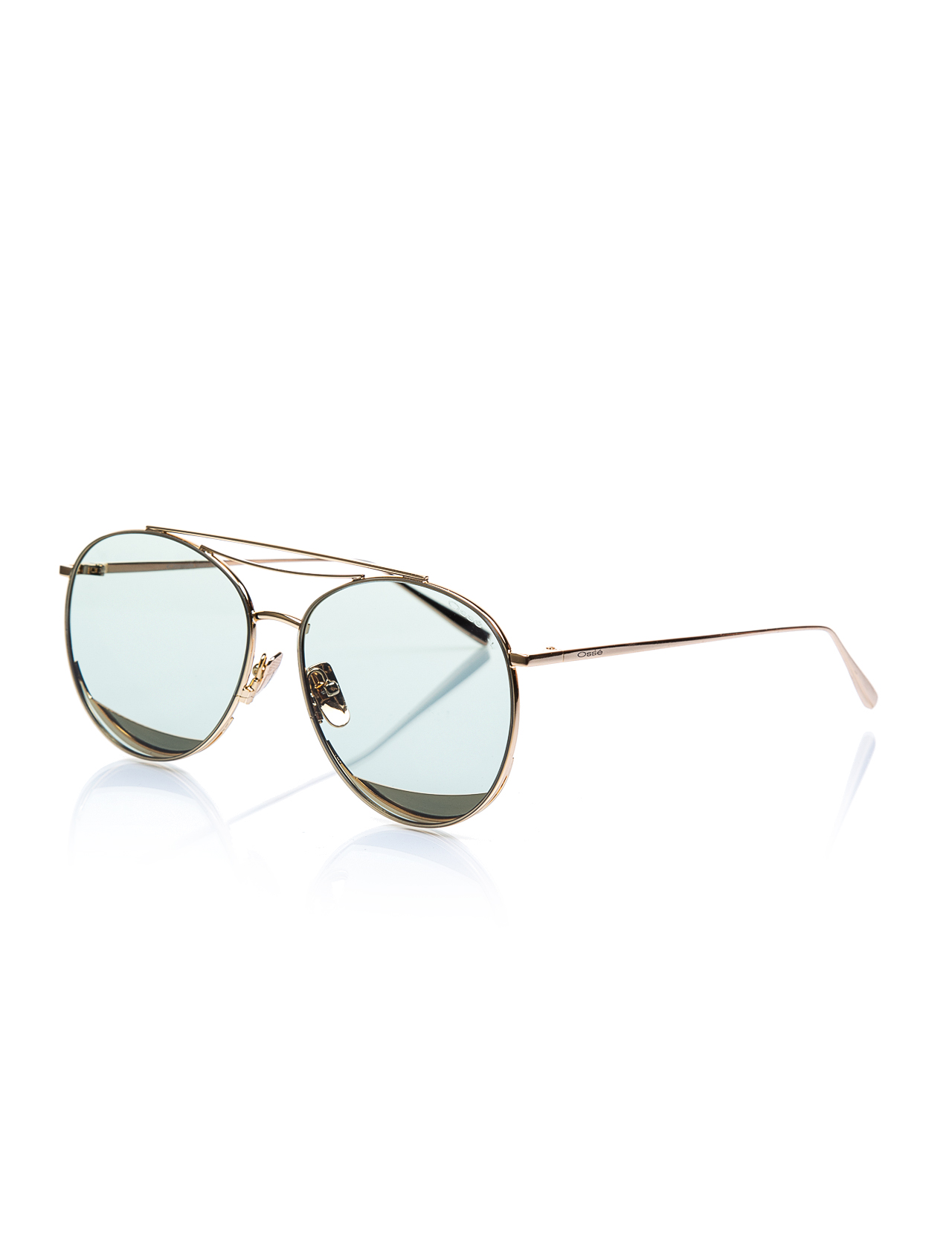 Women's sunglasses os 2676 03 metal gold organic drop pilot 59-16-147 osse