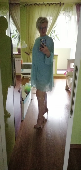 Korean Summer Fashion Women Clothes Vacation Dresses Lantern Sleeves Pullover Loose Chiffon Dress Pleated photo review